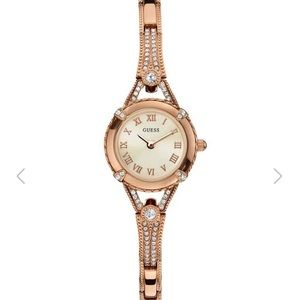 Guess Gold tone petite crystal watch